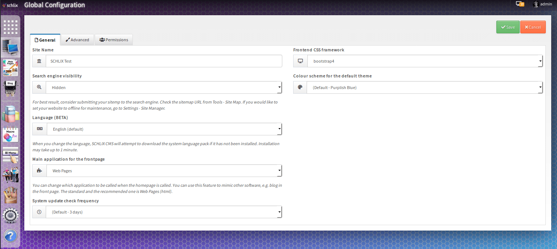 SCHLIX v2.2.x - global configuration