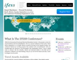 This website contains some custom functionalities such as scientific abstract submission function (student paper), review system, etc. http://www.ifess2012.com
