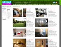 This is a property/real-estate listing website with a few addons: automated multi-currency update, property listing and image gallery, nivoslideshow. http://www.nelbaliproperty.com