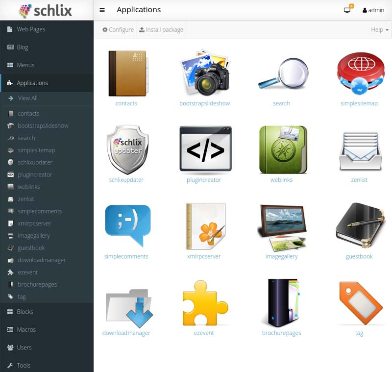 SCHLIX CMS Customization